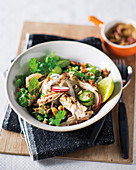 Satay chicken bowls