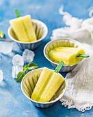Pineapple and mint lollies