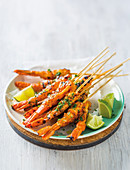 Smoky prawn skewers
