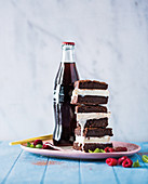 Brandy and coke brownie sandwiches