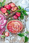 Applepie mit dünnen Apfelscheiben