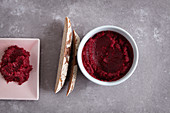 Vegan beetroot and horseradish cream
