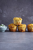 Spicy millet and carrot muffins