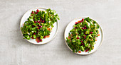 Lamb's lettuce salad with pomegranate seeds