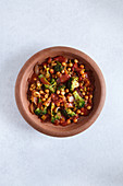 Vegetarian tagine with chickpeas and broccoli