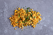 Vegan harissa couscous (a side for a tagine dish)
