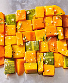 Sautéed diced pumpkin