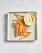 Pumpkin fries and chilli mayonnaise