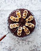 Banana and chocolate cake