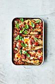 Vegetarischer Zucchini-Auflauf alla Parmigiana
