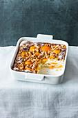 Sweet apricot lasagne