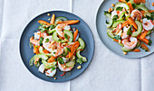 Vietnamese prawn and carrot salad with cucumber