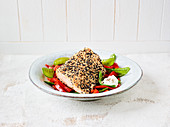 Salmon with sesame seeds and 5 spice powder (slow cooking)