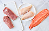 Meat and fish should be at room temperature before cooking