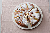 Coconut and cherry oil-sponge cake