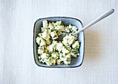 Marinated, diced feta cheese