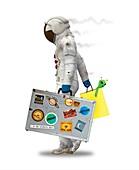 Space tourist, illustration