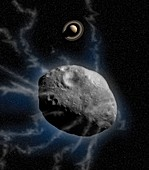 2060 Chiron and Saturn, illustration