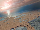 Water on a young Mars, illustration