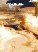 Cloudscape on Jupiter, illustration