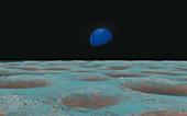 Neptune from Triton, illustration