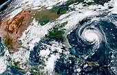 Hurricane Florence, satellite image