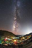 Milky Way over Ganden Monastery