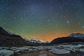 Airglow over Laigu Glacier
