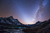Zodiacal light and Milky Way over the Himalayas