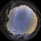 Milky Way over the Himalayas, 360-degree panorama