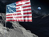 US return to the Moon, conceptual illustration
