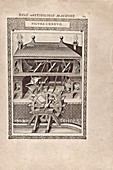 Water-powered furnace bellows, 16th century