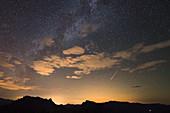 Perseid meteor, China