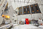 BepiColombo spacecraft solar panels test before launch