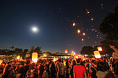 Supermoon over lunar festival in Thailand
