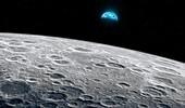 Earth from lunar orbit, illustration
