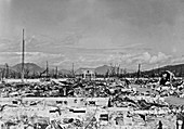Atomic bomb destruction, Nagasaki, 1948