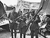 Guns from Baron von Richthofen's crashed aeroplane, 1918