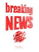 Breaking news logo, illustration