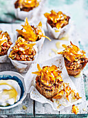 Golden Beetroot and Carrot Cakes