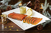 Gravlax as a festive appetizer