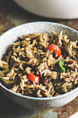Mexican black rice