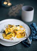 Tortelli di zucca (pumpkin pasta, Italy)