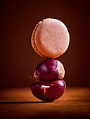 A macaroon and a chestnut