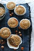 Gluten-free muffins with hazelnuts