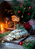 Christmas stollen and cake