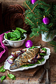 Roasted mackerel for Christmas