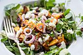 Goat's cheese, roast sweetpotato, saltinas, shallots and watercress salad