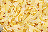 Fresh pasta, Tagliatelli (filling the frame)