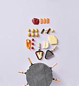 Ingredients for raclette